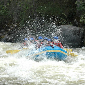 Getting splashed on the upper sacramento river