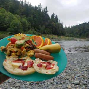 Gourmet food streamside
