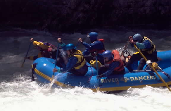 River Dancers rafting on the Cal Salmon